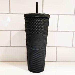 Black studded Starbucks tumbler